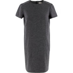 Brunello Cucinelli Grey Wool Jersey Short Sleeve Dress - Size S found on MODAPINS from 1stDibs for USD $353.85