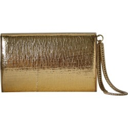 Jimmy Choo Gold Leather Clutch found on MODAPINS from 1stDibs for USD $558.21