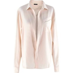 Baja East Cream Wool-crepe Point Collar Blouse Us4 found on MODAPINS from 1stDibs for USD $351.62