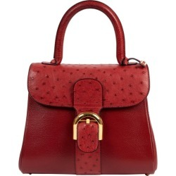 Delvaux Bordeaux Ostrich Brillant Pm Handbag found on MODAPINS from 1stDibs for USD $7318.18