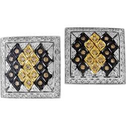 Champagne White Diamond Earrings White Gold