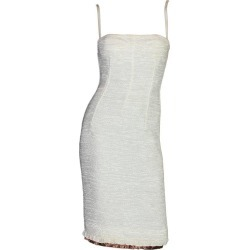 Dolce Gabbana Woven Boned Corset Dress & Coat Frayed Python Trimming found on MODAPINS from 1stDibs for USD $3999.00
