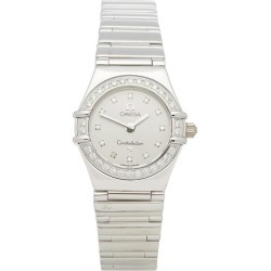 Omega Constellation 1165.36 Ladies White Gold Diamond Watch found on MODAPINS from 1stDibs for USD $7394.87