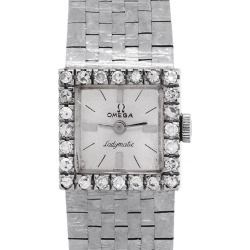Omega Ladymatic Diamond Bezel Ladies Watch found on MODAPINS from 1stDibs for USD $4995.00