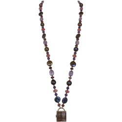 Marina J. Black Pearl, Amethyst, Pink Tourmaline And 14k Rose Gold Sautoir found on Bargain Bro Philippines from 1stDibs for $1000.00