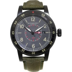 Burberry Utilitarian Gmt Black Ion-plated Steel Nylon Quartz Men�s Watch Bu7855 found on Bargain Bro India from 1stDibs for $540.00
