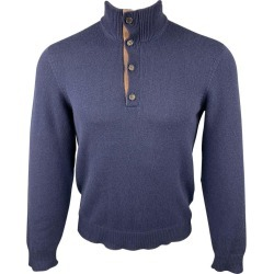 Ralph Lauren Purple Label Size S Navy Cashmere Mock Turtleneck Pullover found on Bargain Bro from 1stDibs for USD $221.16