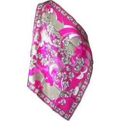 Emilio Pucci Hot Pink Floral Scarf found on MODAPINS from 1stDibs for USD $245.00