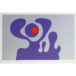 Axel Knipschild, Violet Fantasy - Original Screen Print by A. Knipschild - 1969, 1969