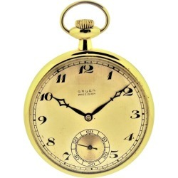 Gruen Watch Company Yellow Gold Pocket Watch found on MODAPINS from 1stDibs for USD $1800.00