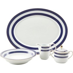 Ralph Lauren Home 4-piece Serving Set In Spectator Blue Pattern found on Bargain Bro Philippines from 1stDibs for $650.00