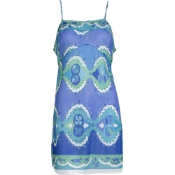 Emilio Pucci Formfit Rogers Blue Palette Neglig�e Slip Mini Dress - Small, 1960s found on MODAPINS from 1stDibs for USD $350.00