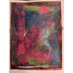 A.muse, Tell Me, Unique Monotype, Contemporary Abstract Work on Paper, Original Print, 2019