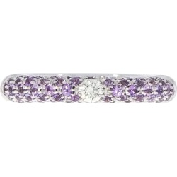 Adolfo Courrier Sapphire And Diamond Stackable Band