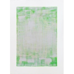 green Calcite, Original Mixed-media Painting On Paper