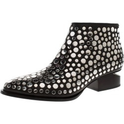 Alexander Wang Black Studded Leather Gabi Ankle Boots Size 36.5 found on MODAPINS from 1stDibs for USD $545.00