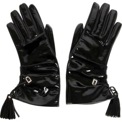 Delvaux Black Leather Vernis Gloves found on MODAPINS from 1stDibs for USD $408.60