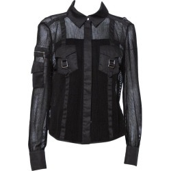Louis Vuitton Black Mesh Button Front Shirt L found on Bargain Bro Philippines from 1stDibs for $499.00