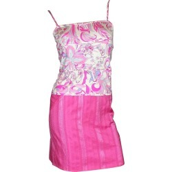 Emilio Pucci Hot Pink Signature Print Silk Top Skirt Suit Ensemble Set As Dress found on MODAPINS from 1stDibs for USD $169.00