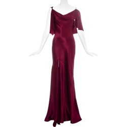 John Galliano Wine Red Satin Bias Cut Evening Dress, Fw 1999 found on MODAPINS from 1stDibs for USD $10824.55