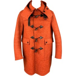 Burberry Prorsum F/w 2011 Size 40 Orange Heather Wool Toggle Closure Coat found on Bargain Bro from 1stDibs for USD $1,057.16