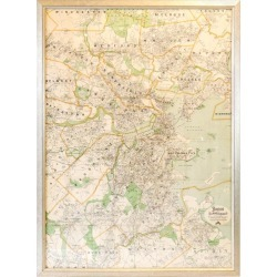 Original Map Of Boston found on Bargain Bro Philippines from 1stDibs for $1299.00