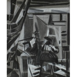 Seymour Tubis, Cubist Charcoal Study of Vermeer, Circa 1950, Circa 1950 found on Bargain Bro India from 1stDibs for $535.00