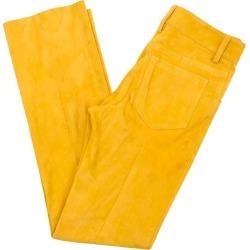 Jitrois Lamb Velvet Mustard Trousers - Size Us 2 found on MODAPINS from 1stDibs for USD $334.52