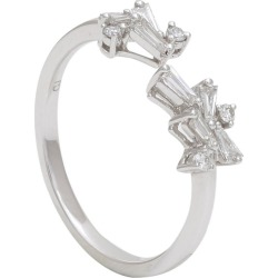 Diamond Baguettes And Round Dainty Ring In 18 Karat White Gold found on Bargain Bro India from 1stDibs for $1500.00