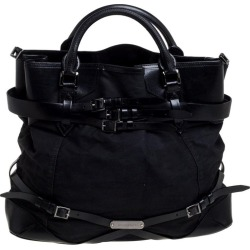 Burberry Black Fabric And Leather Large Bridle Lynher Tote found on Bargain Bro Philippines from 1stDibs for $1036.00