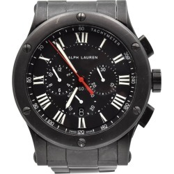 Ralph Lauren Black Matte Ceramic Sporting Chronograph Automatic Wristwatch found on Bargain Bro India from 1stDibs for $4200.00
