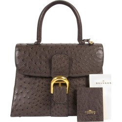 Delvaux Brillant Ostrich Mm Palissandre Bag found on MODAPINS from 1stDibs for USD $9147.72
