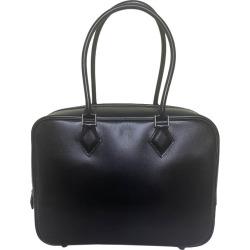 Hermes Black Box Leather 28cm Plume Bag