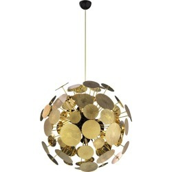 Newton Chandelier Sphere In Gold-plated Brass