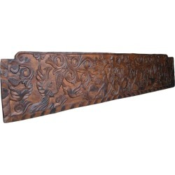 19th Century Antique Primitive, Carved Rustic Wooden Panel Or Headboard found on Bargain Bro India from 1stDibs for $1850.00