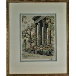 Hans Figura, Marche aux Fleurs, Place de la Madeleine, Paris, c.1960 found on Bargain Bro Philippines from 1stDibs for $700.00