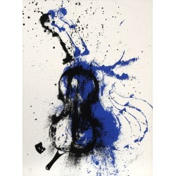 Fernandez Arman, Crossfire, Violin Silkscreen by Arman, 1979 found on Bargain Bro India from 1stDibs for $960.00