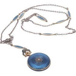 Concord Watch Co. Diamond Enamel Pendant Watch Necklace, 1915 found on MODAPINS from 1stDibs for USD $4980.48