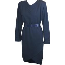 Yves Saint Laurent Jersey Faux Wrap Dress