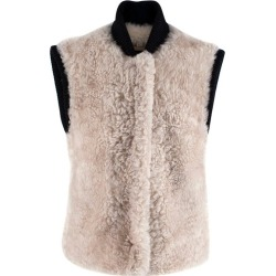 Burberry Two-tone Rib Knit Trim Shearling Gilet Us4 found on Bargain Bro from 1stDibs for USD $439.09