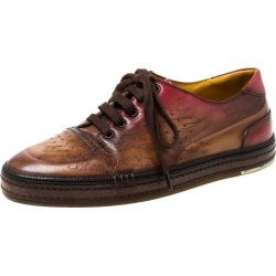 Berluti Brown Ombre Leather Playtime Low Top Sneakers Size 42 found on MODAPINS from 1stDibs for USD $847.00
