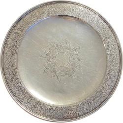 Tiffany & Co. Sterling Silver Serving Platter Circa 1900s Estate Find