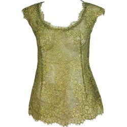 Emanuel Ungaro Gold Lace Cap Seeve Fitted Evening Top found on MODAPINS from 1stDibs for USD $425.00