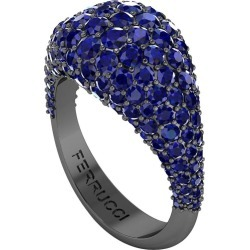 2.6 Carat Blue Sapphires Dome Ring In 18 Karat Black Gold found on Bargain Bro Philippines from 1stDibs for $4500.00