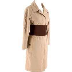 Burberry Corseted Beige Classic Car Coat - Size Us 2 found on Bargain Bro India from 1stDibs for $823.36