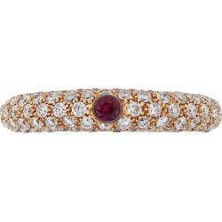 Ruby Gemstone Diamond Ring