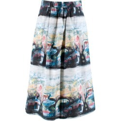 Burberry Abstract Graffiti Print Midi Skirt M 10 found on Bargain Bro India from 1stDibs for $397.72