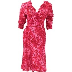Emanuel Ungaro Silk Leopard Print Wrap Dress found on MODAPINS from 1stDibs for USD $540.00