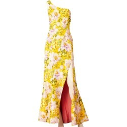John Galliano Floral Print One Shoulder Gown found on MODAPINS from 1stDibs for USD $1995.00