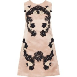 Dolce Gabbana Blush Pink Silk Black Floral Lace A-line Mini Dress It36 Xs found on MODAPINS from 1stDibs for USD $500.00